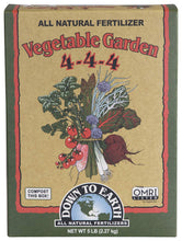 Down to Earth Organic Vegetable Garden Fertilizer 4-4-4, 5lb - myorganicals