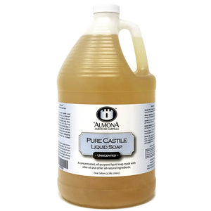 La Almona - Pure Castile Liquid Soap (Unscented), 1 Gallon - myorganicals