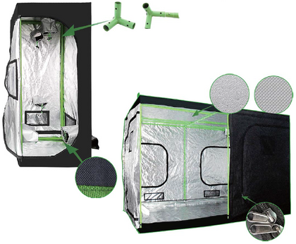 The Hulk Series 240 x 240 x 215cm ( 8 x 8 x 7 ft ) Grow Tent - Iponic Zone