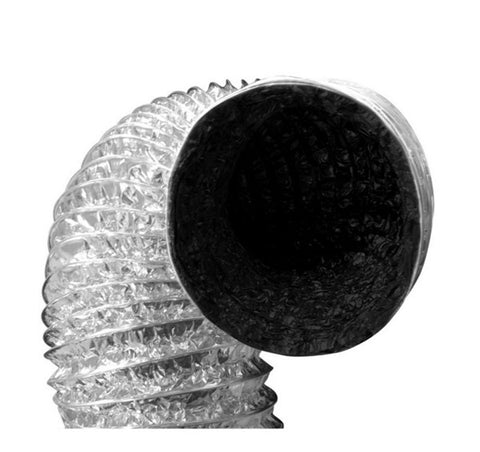 "Black-inside Foil Ducting 6"" x 25' - Iponic Zone"