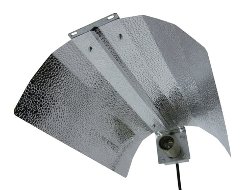 Econo-Wing/Bat-Wing Reflector with Lamp Cord and Socket - Iponic Zone