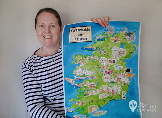 My Scratchable Map Ireland With All Around Ireland