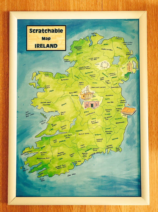 Framed Scratchable Map Ireland