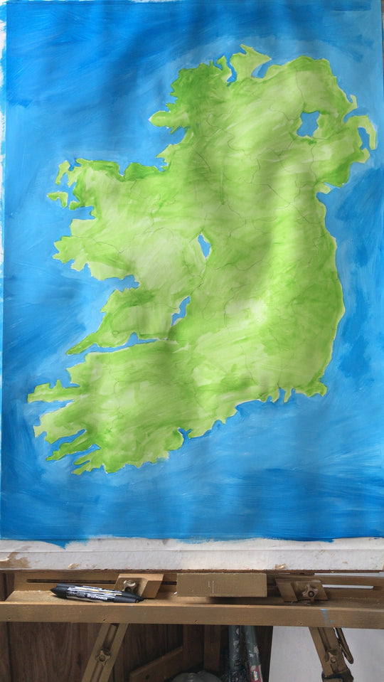 The idea for Scratchable Map Ireland