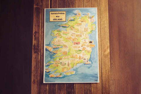 Scratchable Map Ireland - fully scratched off