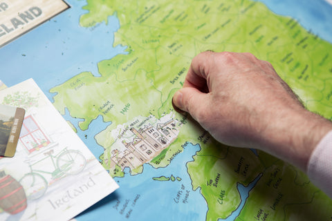 Scratching off Kylemore Abbey on Scratchable Map Ireland