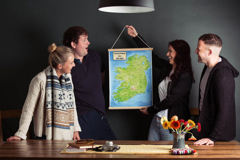 Scratchable Map Ireland in a Magnetic Poster Hanger