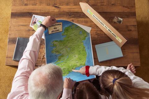 Choosing your next destination on Scratchable Map Ireland