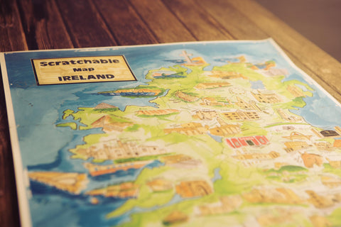 Scratchable Map Ireland - scratched