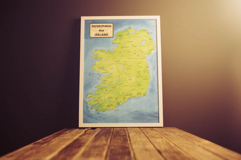 Scratchable Map Ireland - Framed and Unscratched