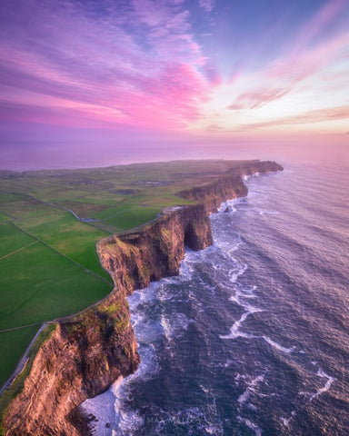 Cliff's Of Moher Print by Max Molloy