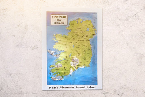 Personalised Framed Scratchable Map Ireland