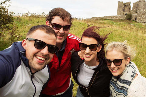 Group of friends at the Rock Of Cashel
