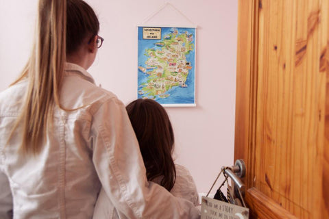 Admiring their Scratchable Map Ireland
