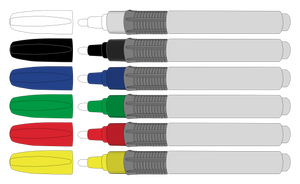 Grip Pen - 6 Pack - Boardstix