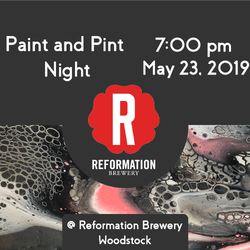 Pint and Paint Night Fundraiser For Brain Tumor Awareness Month @ Reformation Brewery 5/23