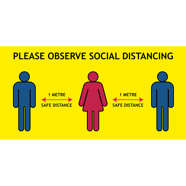 Keep 1m Apart Social Distancing Floor Stickers