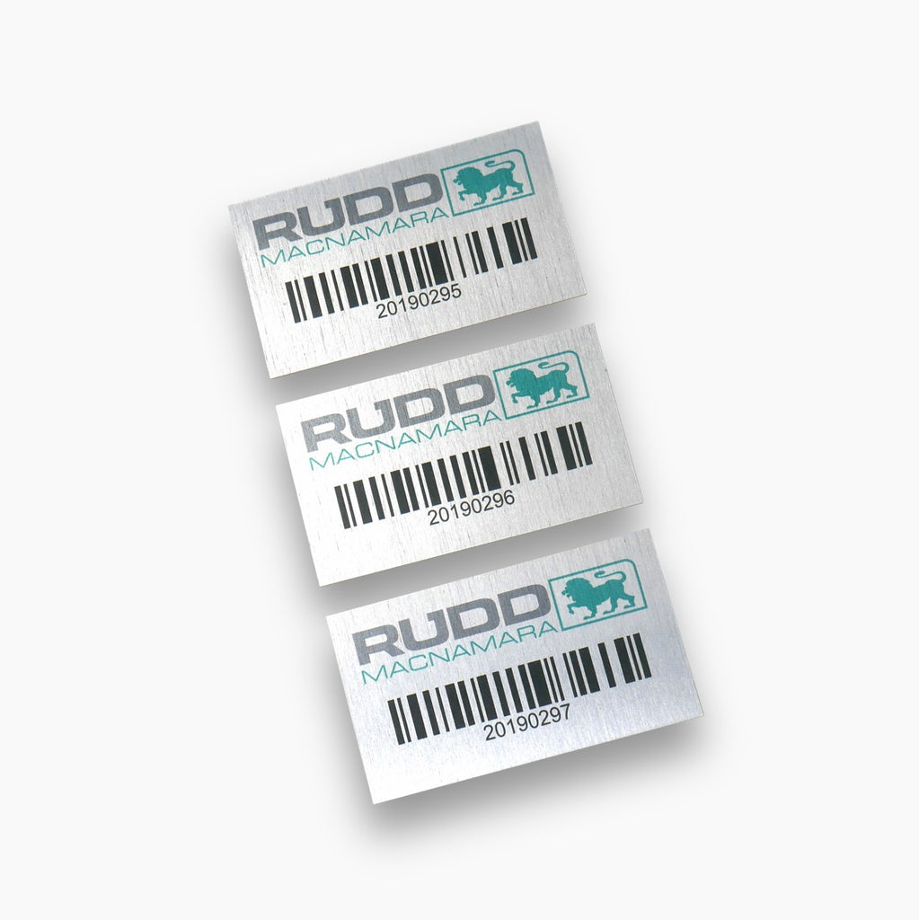 Anodised Robust Barcode, QR & Asset Labels