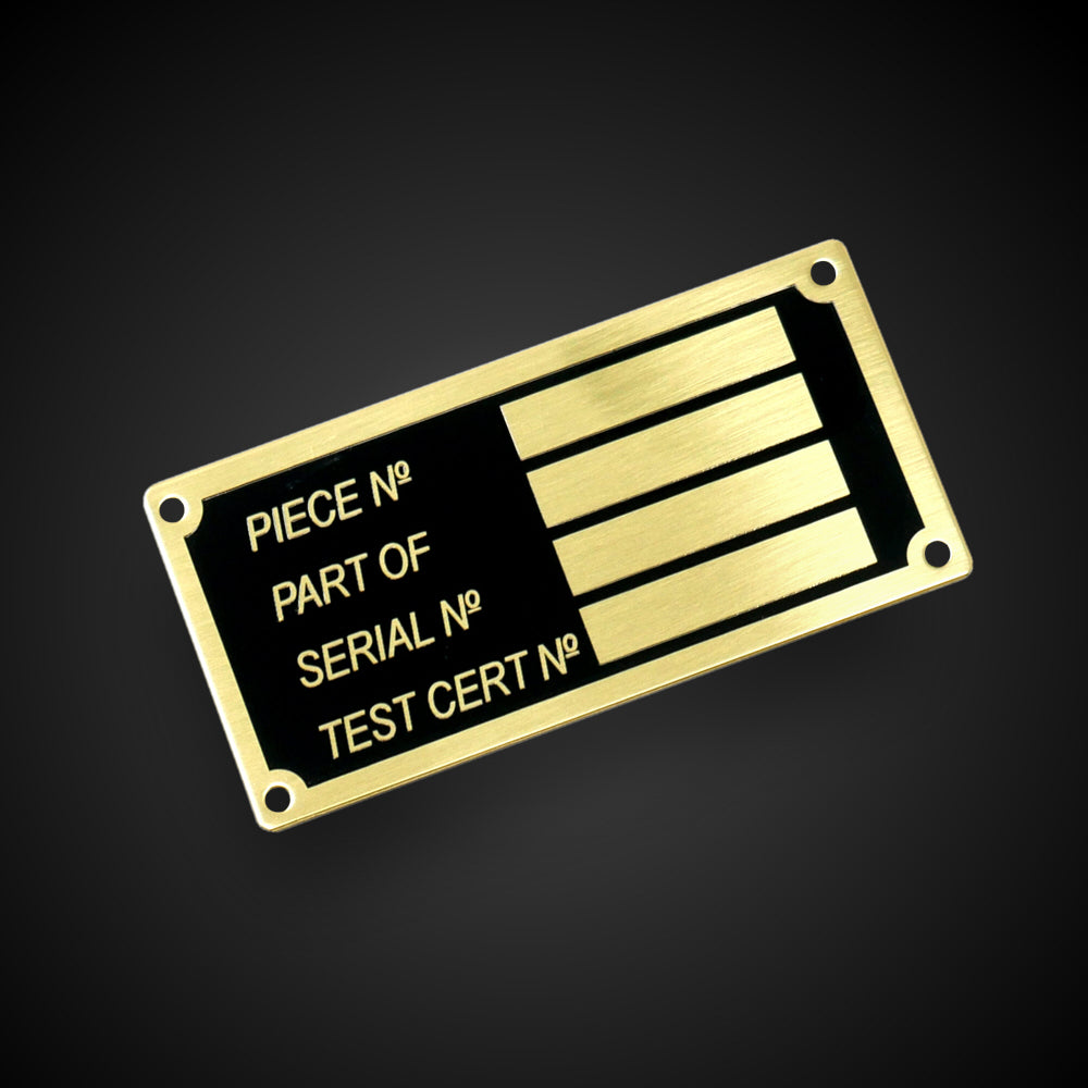 Chemically Engraved Plaques