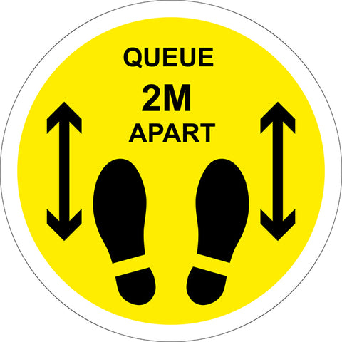 Keep 2m Apart Social Distancing Floor Stickers