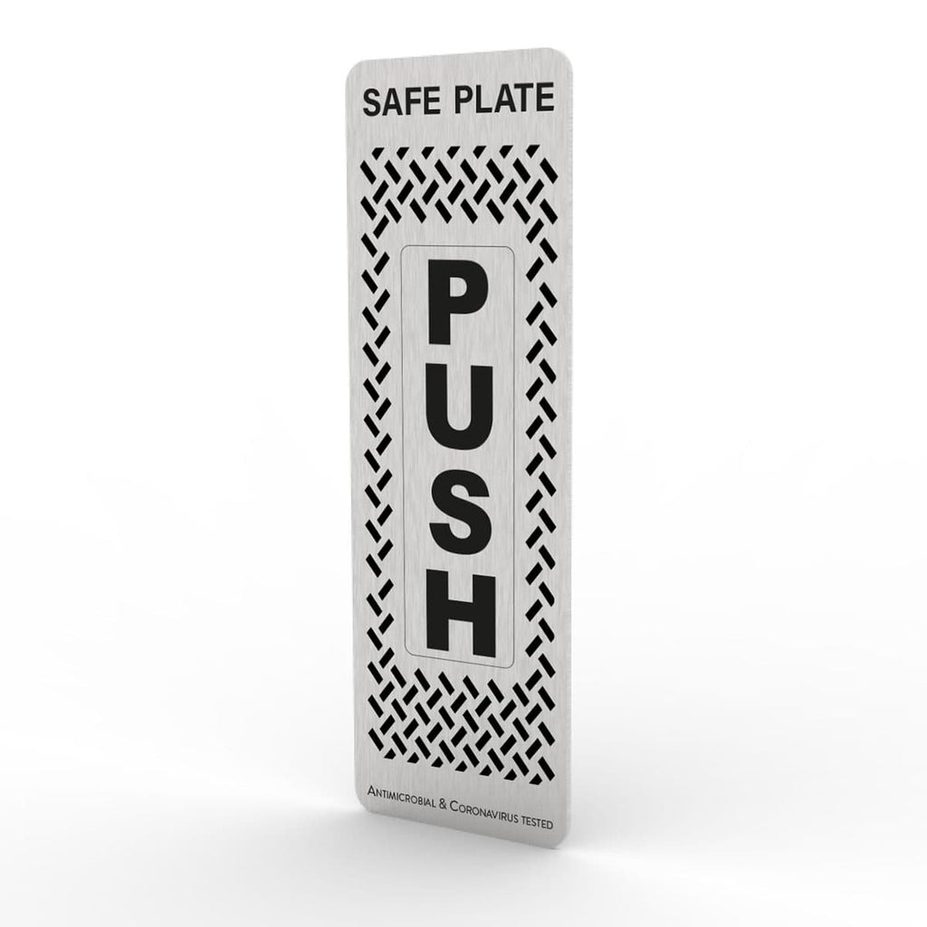 Safe Plate Antiviral Door Push Plate