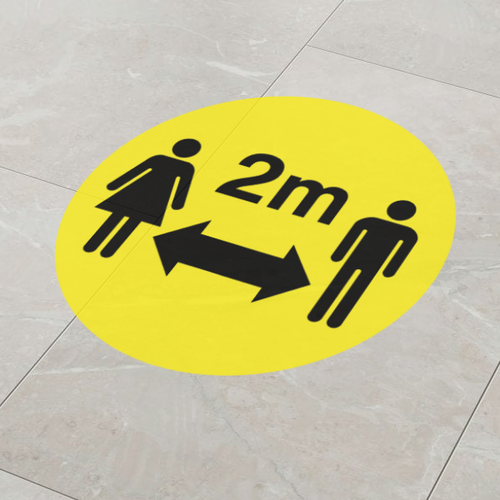 Social Distancing Floor Stickers, Markers & Graphics