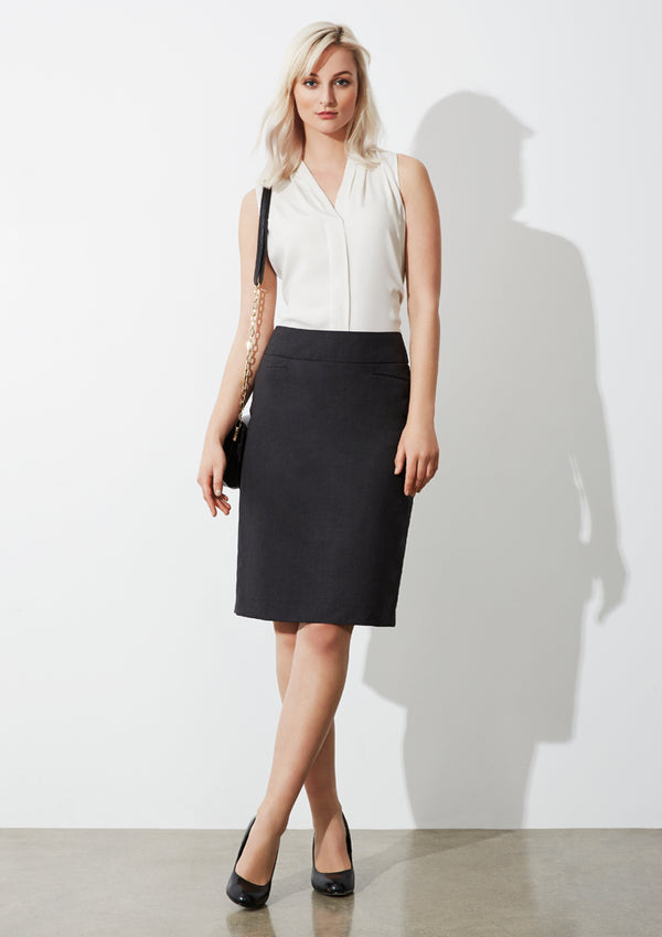 Biz Collection BS128LS Ladies Classic Knee Length Skirt