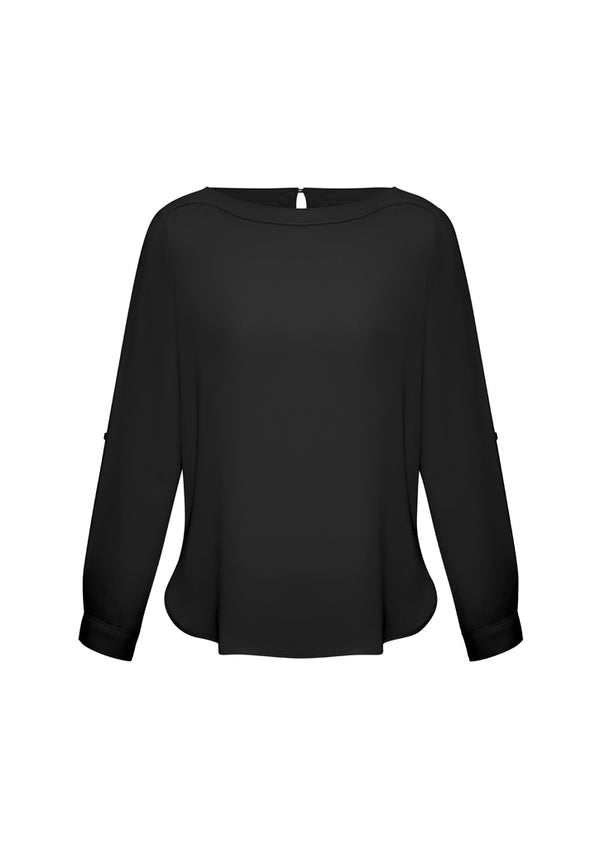 Biz Collection S828LL Ladies Madison Boatneck Blouse