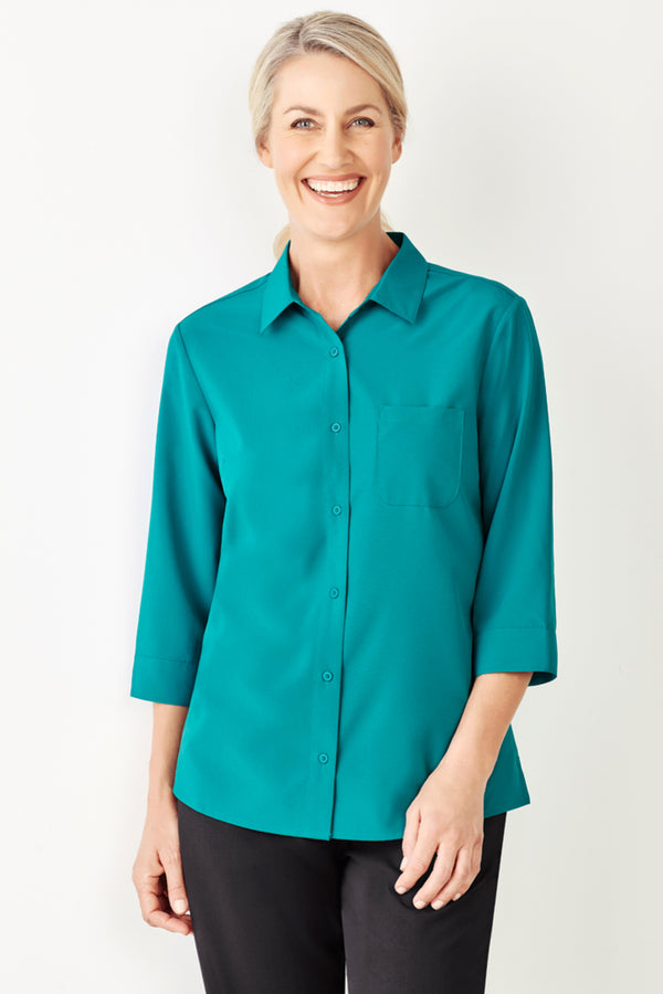 Bizcare CS951LT Womens Easy Stretch 3/4 Sleeve Shirt