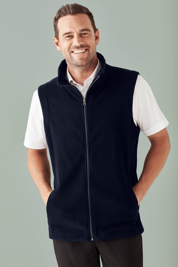 Bizcare F233MN Mens Plain Micro Fleece Vest