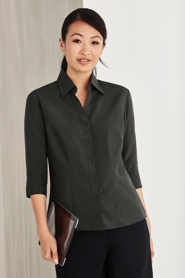 Bizcare LB3600 Ladies Plain Oasis 3/4 Sleeve Shirt