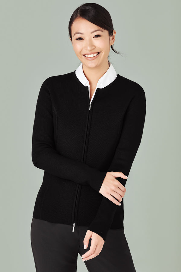 Bizcare LC3505 Ladies 2-Way Zip Cardigan