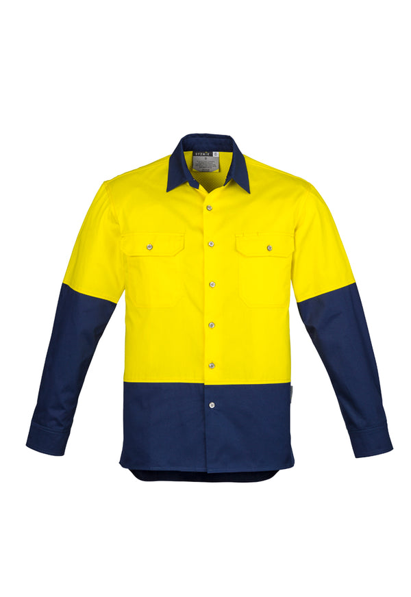 Syzmik ZW122 Mens Hi Vis Spliced Industrial Shirt