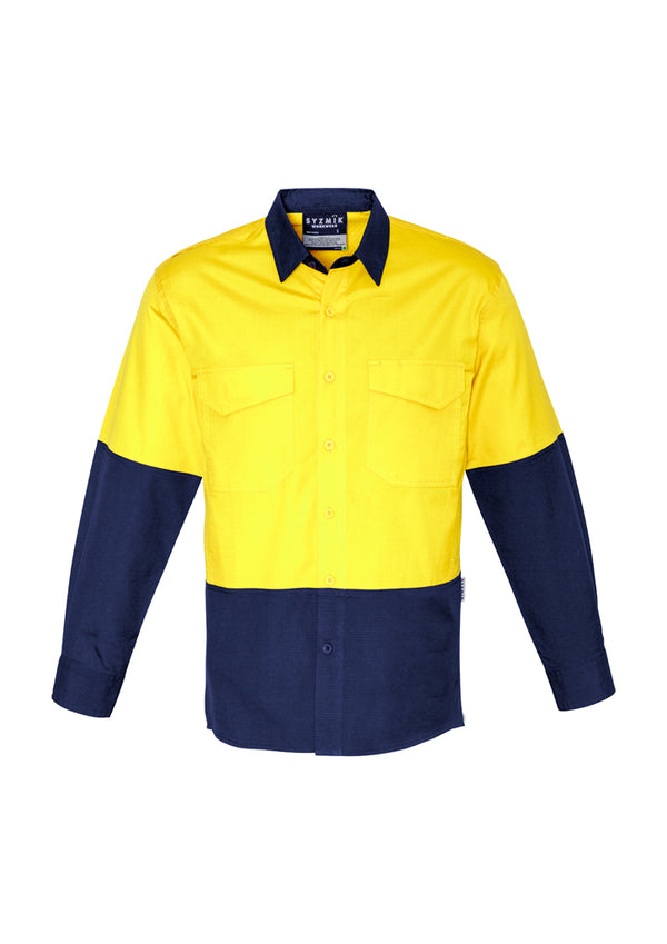 Syzmik ZW128 Mens Rugged Cooling Hi Vis Spliced Shirt