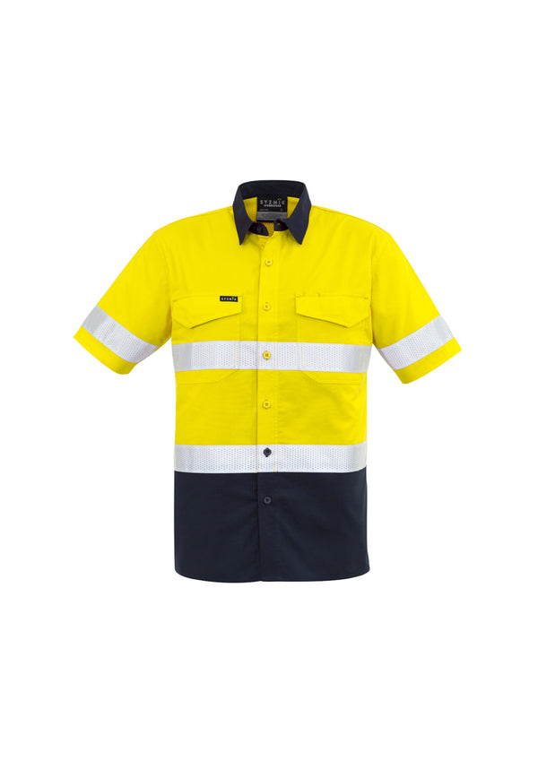 Syzmik ZW835 Mens Rugged Cooling Taped Hi Vis Spliced S/S Shirt