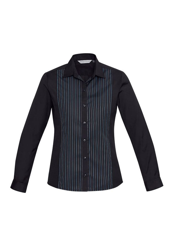 Biz Collection S414LL Ladies Reno Panel Long Sleeve Shirt