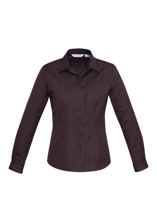 Biz Collection S415LL Ladies Reno Stripe Long Sleeve Shirt
