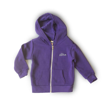 Kid's Zip Hoodie - Purple - Clearance