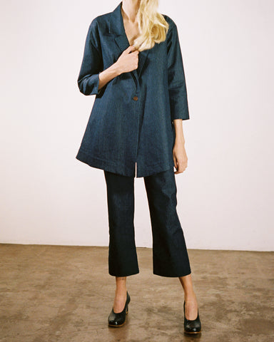 Maria Stanley luna pant and nash blazer denim suit