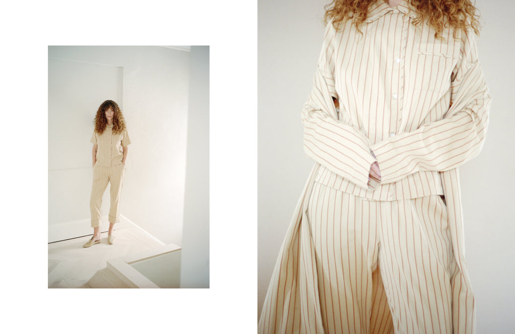 Maria Stanley AW20 look book by Michael J Spear and model Maya Singer