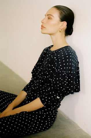 Maria Stanley sustainable fashion designer polka dot history