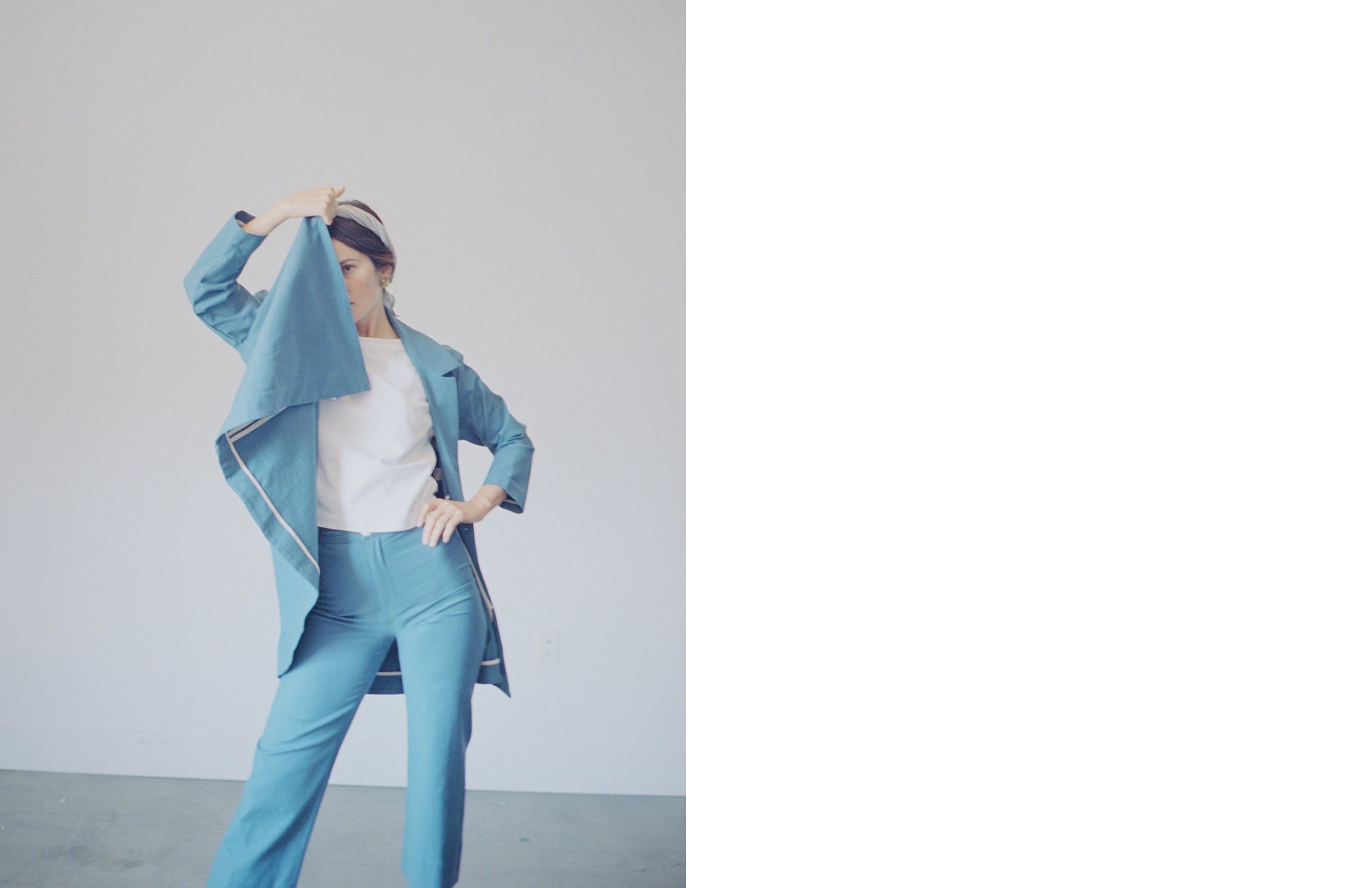 Maria Stanley Spring Luna pant Nash blazer and tee by michael j spear kassidi batt hayley farrington