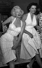 Marilyn Monroe and Jane Russell at Graumans Chinese Theatre1953  - 2