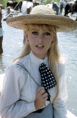 during the filming of Viva Maria, 1965 Bridget Bardot