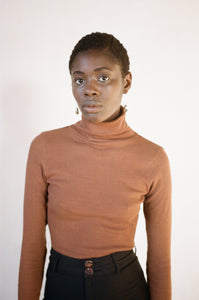 TURTLENECK | tobacco | organic + earth dyed