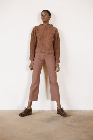 Maria Stanley cotton luna pant clove brown