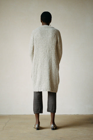 AGNES SWEATERCOAT | shiitake | earth dyed