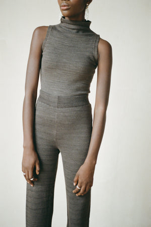 MOCKNECK TANK | charcoal | organic + earth dyed