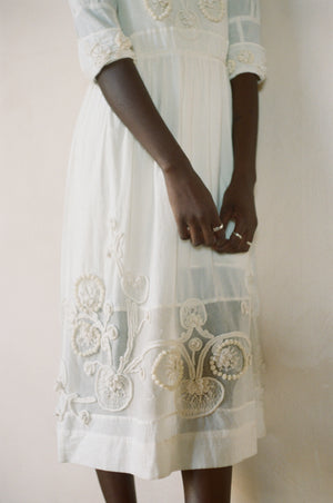 SYDNEY DRESS | coconut | organic cotton