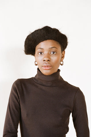 BRUSHED BERET | noir